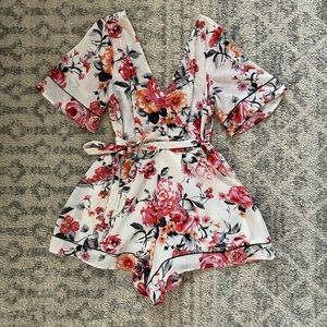 Float Romper with tied waist